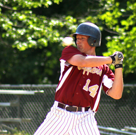 Newburyport: Newburyport's Ryan O'Connor ducks out of the way of a pitch during Monday afternoon's state tournament game against visiting Austin Prep. Photo by Ben Laing/Staff Photo