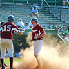 Lynn: Newburyport's Ryan O'Connor (14) scores what would turn out to be the game winning run , giving his Clippers a 2-1 lead mid-way through Wednesday's game against Apponequet. Newburyport would add two more runs, make the final 4-1. Photo by Ben Laing/Staff Photo