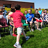 Seabrook: Children scramble for open seats during a game of musical chairs at Seabrook Elementary School on Wednesday. That was one of the activities for the schoo's annual Field Day. Bryan Eaton/Staff Photo