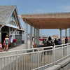 Hampton: Several new bath houses and seating areas to keep out of the sun are now in use at Hampton Beach. Bryan Eaton/Staff Photo