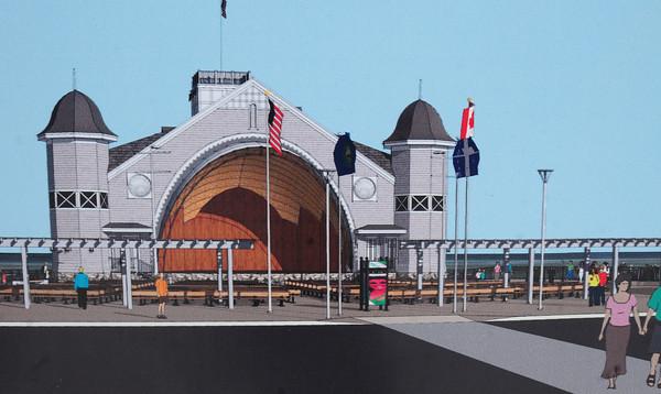 Hampton: Artist rendition of the completed Seashell Complex at Hampton Beach. Bryan Eaton/Staff Photo