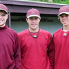 Newburyport: Newburyport High baseball player, from left, Sam Barlow, Will Habib and David Cusack. Bryan Eaton/Staff Photo