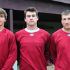 Newburyport: Newburyport High baseball player, from left, Brett Fontaine, Jim Conway and Ryan O'Connor. Bryan Eaton/Staff Photo