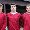 Newburyport: Newburyport High baseball player, from left, Brett Fontaine, Jim Conway and Ryan O'Connor. Bryan Eaton/Staff Photo