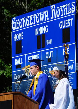 Georgetown: Georgetown High salatutorians Matthew Nutter and Sarah Erlandson. Bryan Eaton/Staff Photo