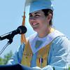 Byfield: Salatutorian Erin Curley addresses her fellow graduates. Bryan Eaton/Staff Photo