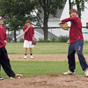 Newburyport: Newburyport High pitchers Ryan O'Connor, left, and Brett Fontaine in a light practice yesterday with teammates. Bryan Eaton/Staff Photo