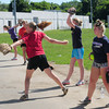 Amesbury: Teens practice at a Learn to Pitch Camp at Amesbury Middle School on Monday. Bryan Eaton/Staff Photo