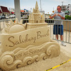 Salisbury: Bob Desrochers of Hookett, N.H. photographed all of the sand sculptures at Salisbury Beach yesterday which were constructed for this weekend's Sand and Sea Festival. The festival begins on Saturday and goes into Sunday with some old and new events scheduled. Bryan Eaton/Staff Photo