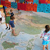 Newbury: Newbury Elementary School second-graders have been using a huge map of Asia in their lessons on geography. Bryan Eaton/Staff Photo