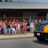 Salisbury: Teachers and staff at Salisbury Elementary School wave goodbye to students Wednesday on the last day of classes. Newbury and Rowley Schools were also released for the year. Bryan Eaton/Staff Photo