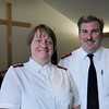 Newburyport: Salvation Army Major Kathy Purvis and her husband, Capt. James Purvis have be reassigned to Elmira, N.Y. Bryan Eaton/Staff Photo