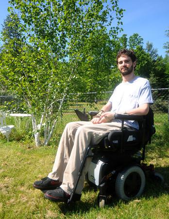 Newton: Nate Bibaud at his home in Newton. Jim Vaiknoras/Staff photo