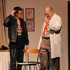 "Amesbury: Dustin Kelly as Leslie and Tom Seiler as Dr. Bonney in the Amesbury Playhouse production of ""It Runs in the Family"". Jim Vaiknoras/Staff photo"