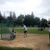 Newburyport: Newburyport High baseball coach Bill Pettingell hits fly balls to his team at his last practice before Saturday State Championship Game. Jim Vaiknoras/Staff photo