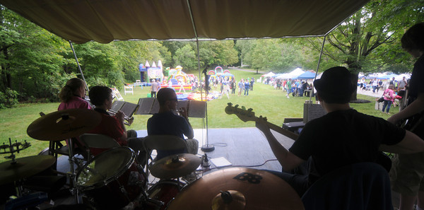 """Danvers: The band """"The all Arounds"""" perform  at the Danvers Family Festival at Endicott Park Saturday. JIm Vaiknoras/Staff photo"""