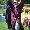 newburyport: Newburyport high graduate Dylan Romani celebrates after getting his diploma at Sunday's Graduation Ceremonies at War Memorial Stadium. Jim Vaiknoras/Staff photo