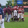 lowell: The Newburyport high baseball team celebrate after defeating St Mary's 3-1 in the Division 3 North Sectional Championship game at LeLacheur Park in Lowell Saturday. Jim Vaiknoras/Staff photo