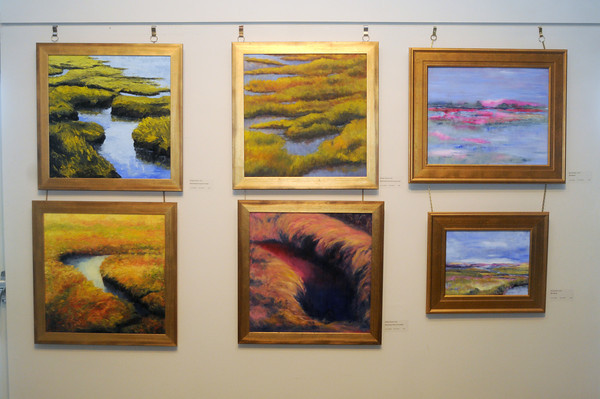 """Byfield: Works by artists , Margaret Bernier and Janet Rossman on display at the Governor's Academy in a show called """"Oil Painting with Panache."""" Jim Vaiknoras/Staff photo"""