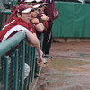 Lowell: The Newburyport high baseball team bench  watches in the rain at LeLacher Park in Lowell as the Clippers play St Mary's in the North Sectional Championship Game Saturday. Newburyport defeated the Spartans 3-1 giving the their first championship since 1996. JIm Vaiknoras/Staff photo