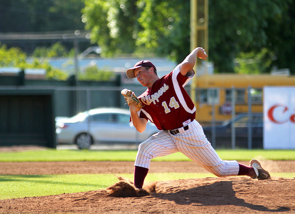 Lynn: Newburyport lefty Ryan O'Connor (14) was credited with the win Wednesday afternoon after leading his Clippers to a 4-1 victory of Apponequet. Photo by Ben Laing/Staff Photo