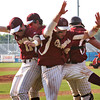 Lynn: The Clippers celebrate after defeating Bishop Fenwick 3-0 Wednesday afternoon at Fraser Field in Lynn. Newburyport advances with the win to the North Sectional Finals in Lowell on Saturday afternoon. Photo by Ben Laing/Staff Photo