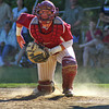 Newburyport: Newburyport catcher Connor Wile (3) tracks down a loose ball during Monday afternoon's game against visiting Austin Prep. Photo by Ben Laing/Staff Photo