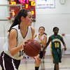 Newburyport: Beth Castantini (10) drives to the hoop for Newburyport as the Clippers hosted Snowden on Wednesday night. Photo by Ben Laing/Staff Photo