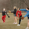 Amesbury: Amesbury softball team practices behind the middle school on Friday afternoon. Bryan Eaton/Staff Photo