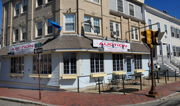 Newburyport: Cafe Europa at the top of Green Street at High Street in Newburyport is bring auctioned off Thursday. Bryan Eaton