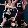 West Newbury: Pentucket's Nicole Viselli puts the defensive pressure on a Weston player. Bryan Eaton/Staff Photo