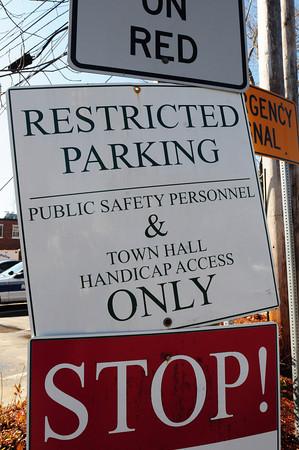 Amesbury: Sign entering Amesbury Police Station parking lot. Bryan Eaton/Staff Photo