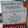 Amesbury: Sign entering Amesbury Police Station parking lot. Bryan Eaton/Staff Photo