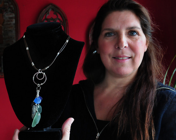 Merrimac: Merrimac seaglass jewelry artist Pam McKay. Bryan Eaton/Staff Photo