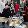 West Newbury: The Pentucket High School Jazz Band took third place at the Berklee Jazz Festival. From left, director David Schumacher, James Frietas, 17, Elise Homan, 17. Josh Torvi, 15, Eddie Gaudet, 16, and Duncan Tarr, 16.
