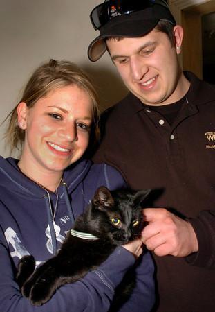 Salisbury: Marisa Levine's cat, Lola. took a long unexpected trip to New Hampshire with her boyfriend, Derek Richard's father, Bryan Eaton/Staff Photo