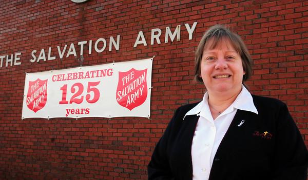 Newburyport: Major Kathy Purvis from the Newburyport Salvation Army. Bryan Eaton/Staff Photo