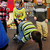 "Newbury: Preschoolers dance to a Spanish version of ""Volare"" in Mary Jo Lagana's class at Newbury Elementary School on Thursday afternoon. The children danced to several Latin tunes to get them ready for ""clean up"" at the end of the day. Bryan Eaton/Staff Photo"