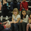 Amesbury: Ozzie Morrill the the Amesbury fire department's Student Awareness of Fire Education coordinator,talks to students in Debra  Whitney's 1st grade class at the Cashman School  Friday. Morrell, who is retiring, is making his final trip to the school after running the program for the past 15 years. Jim Vaiknoras/Staff photo