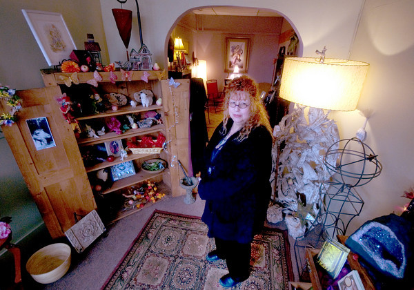 Amesbury:White witch and psychic medium Forest Rangel opens The Witches Cauldron in downtown Amesbury. Jim Vaiknoras/staff photo