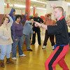 Amesbury: Chris Daigle, who is an instructor at Ocasio's Martial Arts in Plaistow, N.H leads a karate class at Coastal Connections in Amesbury. Jim Vaiknoras/Staff photo