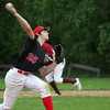 Newburyport: Amesbury's Tyler Lay (25) came in to pitch in relief in the the third inning of Tuesday's game in Newburyport. Photo by Ben Laing/Staff Photo