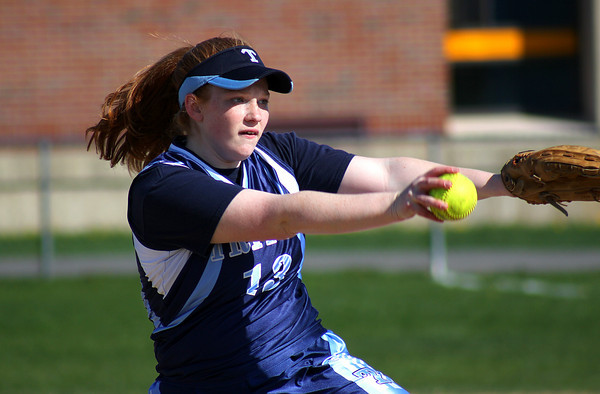 Byfield: Marion Duella (13) delivers a pitch for Triton Monday afternoon, as the Vikings hosted Georgetown in Byfield. Photo by Ben Laing/Staff Photo
