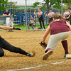 Newburyport: Newburyport third baseman Maddie Stanton has the ball forcing Ipswich's Rachel  Glaubitz out. Bryan Eaton/Staff Photo