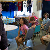 Newburyport: Sullivan Building resident Wilma Felch talks to middle grade students of the Inn Street Montessori School about life growing up in Newburyport. The senior citizens there and the school group have been meeting over the to eliminate the so-called generation gap with Thursday's meeting being the last of the year. Bryan Eaton/Staff Photo