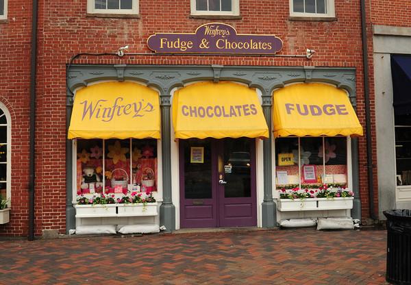 Newburyport: Winfrey's Chocolate and Fudge in Newburyport's Market Square. Bryan Eaton/Staff Photo