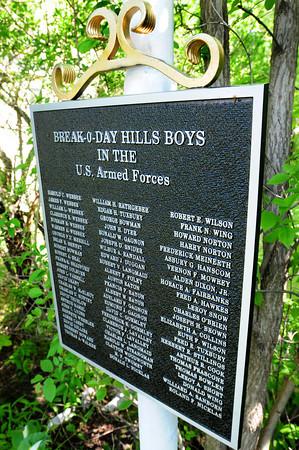 Newburyport: New plaque honoring the Break-o-Day Hills Boys. Bryan Eaton/Staff Photo