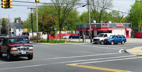 Amesbury: The proposal to bring a CVS store to Amesbury is back on the table, and would be a little further to the east of the Amesbury House of Pizza at the intersection of Main Street and Route 110. Bryan Eaton/Staff Photo