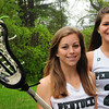 Groveland: Pentucket lacrosse stars Kayla O'Connor, left, and Liz Jayne. Bryan Eaton/Staff Photo