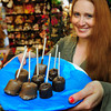 Newburyport: Dragon's Nest owner Kristin Seim is taking part in this Saturday's Chocolate Tour, a fundraiser for the American Red Cross. The shop is handing out chocolate-covered marshmallows made by Simply Sweet to participants. Bryan Eaton/Staff Photo